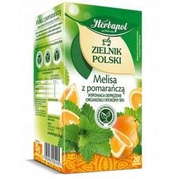Herbata melisa z pomarańczą...
